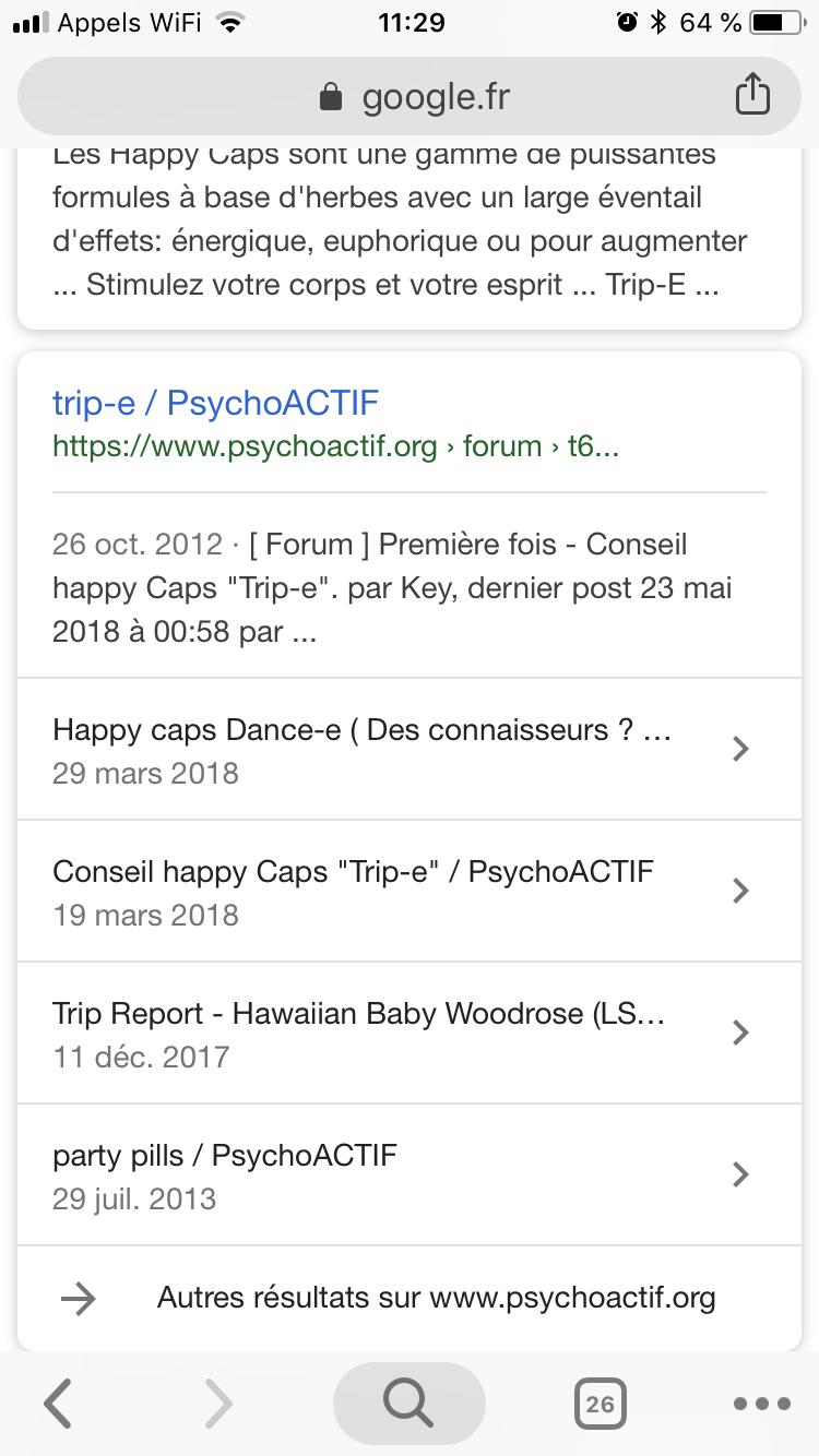 Happy Caps Trip E Psychoactif